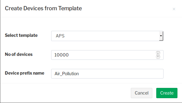 Create Device from Template
