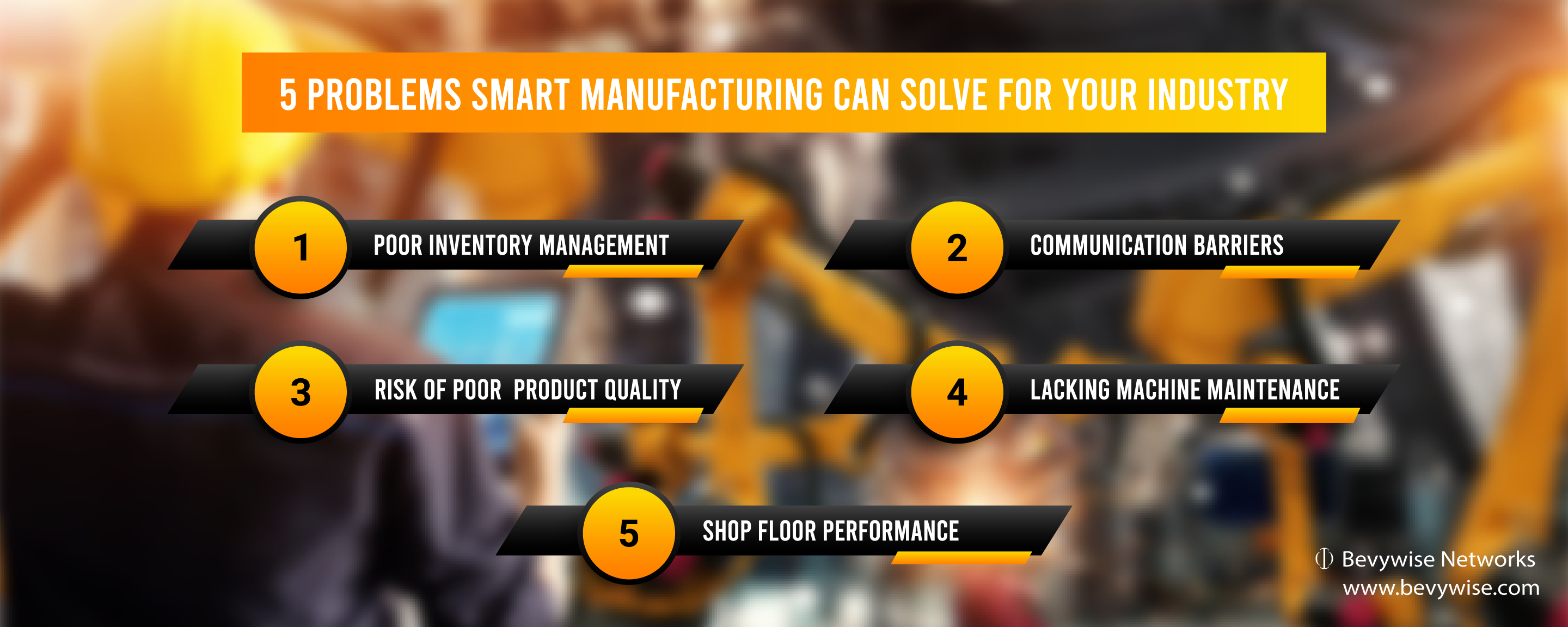 5 Problems Smart Manufacturing can solve for your Industry